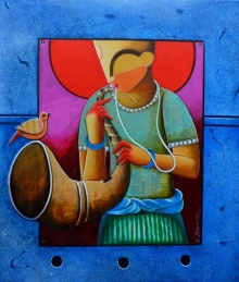 Anupam Pal | Acrylic Painting title Unsong melody on canvas | Artist Anupam Pal Gallery | ArtZolo.com