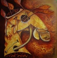 Animals Acrylic Art Painting title 'Untiteld 2' by artist Anupam Pal