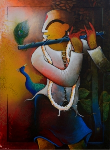 Anupam Pal | Acrylic Painting title The Mesmerizing Tunes 4 on canvas