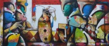 contemporary Acrylic Art Painting title 'Eternal Bonding' by artist Anupam Pal