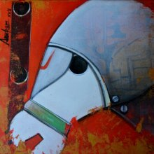 Honouring the Horse | Painting by artist Anupam Pal | acrylic | Canvas