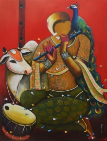 contemporary Acrylic Art Painting title The Mesmerizing Tunes 15 by artist Anupam Pal