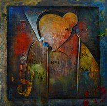 Figurative Acrylic Art Painting title 'HOLI CELEBRATION' by artist Anupam Pal