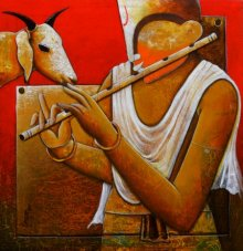 Companion | Painting by artist Anupam Pal | acrylic | Canvas