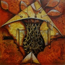 Untiteld 1 | Painting by artist Anupam Pal | acrylic | Canvas