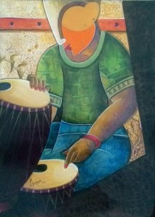 Rhythm Divine 34 | Painting by artist Anupam Pal | acrylic | Canvas