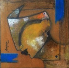 Mask 1 | Painting by artist Anupam Pal | acrylic | Canvas