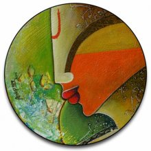 Anupam Pal | Acrylic Painting title Untitled round on canvas | Artist Anupam Pal Gallery | ArtZolo.com