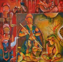 Anupam Pal | Acrylic Painting title The Invincible 1 on Canvas | Artist Anupam Pal Gallery | ArtZolo.com