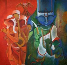 Anupam Pal | Acrylic Painting title The Invincible 2 on Canvas | Artist Anupam Pal Gallery | ArtZolo.com