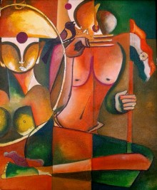 Anupam Pal | Acrylic Painting title Wating For Freedom on Canvas | Artist Anupam Pal Gallery | ArtZolo.com