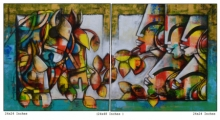 Mixed Media Painting titled 'Power of speed' by artist Anupam Pal on canvas