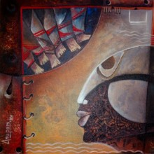 Anupam Pal | Acrylic Painting title Womanes Tranney on Canvas | Artist Anupam Pal Gallery | ArtZolo.com