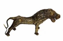 Brass Sculpture titled 'Bastar Lion 3' by artist Kushal Bhansali
