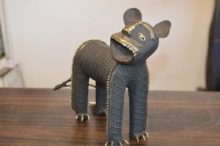 Brass Sculpture titled 'Baghel Tiger Small' by artist Kushal Bhansali