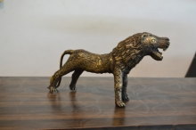 Brass Sculpture titled 'Bastar Tiger 2' by artist Kushal Bhansali