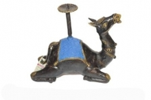 Brass Sculpture titled 'Camal Candel Stand' by artist Kushal Bhansali