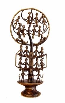 Brass Sculpture titled 'Human Tree' by artist Kushal Bhansali
