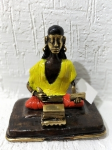 Brass Sculpture titled 'Kavi Valmiki' by artist Kushal Bhansali