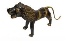 Kushal Bhansali | Lion Sculpture by artist Kushal Bhansali on Brass | ArtZolo.com