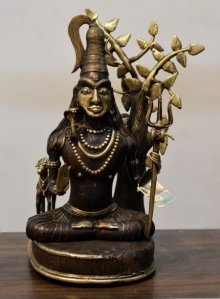 Brass Sculpture titled 'Lord Shiva' by artist Kushal Bhansali