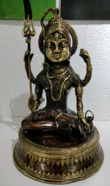 Kushal Bhansali | Lord Shiva 2 Sculpture by artist Kushal Bhansali on Brass | ArtZolo.com