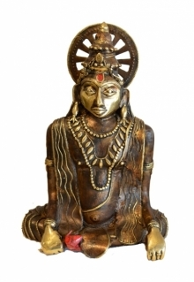 Kushal Bhansali | Lord Vishnu Sculpture by artist Kushal Bhansali on Brass | ArtZolo.com