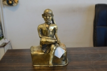 art, sculpture, brass, religious, sai baba