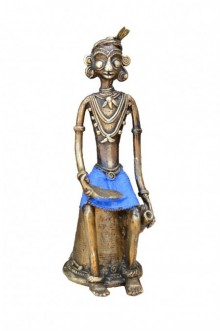Kushal Bhansali | Tribal Sitting Man Craft Craft by artist Kushal Bhansali | Indian Handicraft | ArtZolo.com