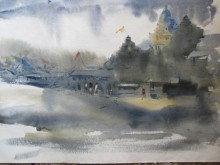Prafulla Taywade Paintings | Watercolor Painting - 11111 131 by artist Prafulla Taywade | ArtZolo.com