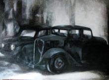 Jyotirmoy Bhuyan | Acrylic Painting title Car on Canvas | Artist Jyotirmoy Bhuyan Gallery | ArtZolo.com