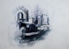 Lifestyle Acrylic Art Painting title My Old City by artist Jyotirmoy Bhuyan