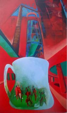 Jyotirmoy Bhuyan | Acrylic Painting title The Cup Of Gallery on Canvas | Artist Jyotirmoy Bhuyan Gallery | ArtZolo.com