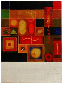 Yogic mantra 2 | Mixed_media by artist Anurag Swami | Canvas