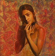 Figurative Oil Art Painting title 'Dream' by artist Harisadhan Dey