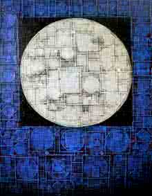 Basuki Dasgupta | Acrylic Painting title Moon on Canvas