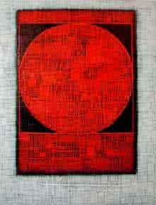 Basuki Dasgupta | Acrylic Painting title The Red Moon on Canvas