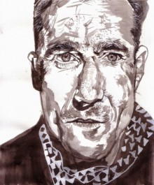 Daniel Day Lewis | Painting by artist Saurabh Turakhia | watercolor | Paper