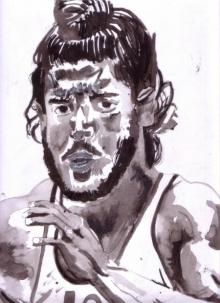 Farhan Akhtar as Milkha Singh | Painting by artist Saurabh Turakhia | watercolor | Paper