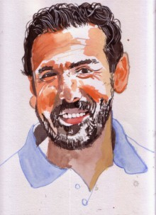 Saurabh Turakhia | Watercolor Painting title My smile is my style on Paper | Artist Saurabh Turakhia Gallery | ArtZolo.com