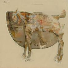 Ajay Deshpande | Oil Painting title The Wild Goat 2 on Canvas | Artist Ajay Deshpande Gallery | ArtZolo.com