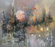 Abstract Oil Art Painting title Untitled 4 by artist Ajay Deshpande