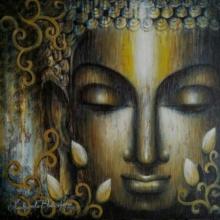 Religious Acrylic Art Painting title 'Dhyana' by artist Madhumita Bhattacharya