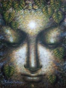 Dhyanmurti | Painting by artist Madhumita Bhattacharya | acrylic | Canvas