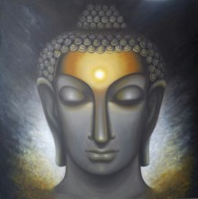 Madhumita Bhattacharya | Oil Painting title Divine Soul on Canvas | Artist Madhumita Bhattacharya Gallery | ArtZolo.com