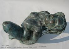 Desire Series VII | Sculpture by artist Manjushri Chakraborty | Bronze