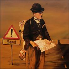 Fantasy Oil Art Painting title Sand by artist Ravi Sachula