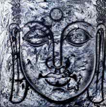 Ramesh | Oil Painting title Lord buddha3 painting on Canvas Board | Artist Ramesh Gallery | ArtZolo.com