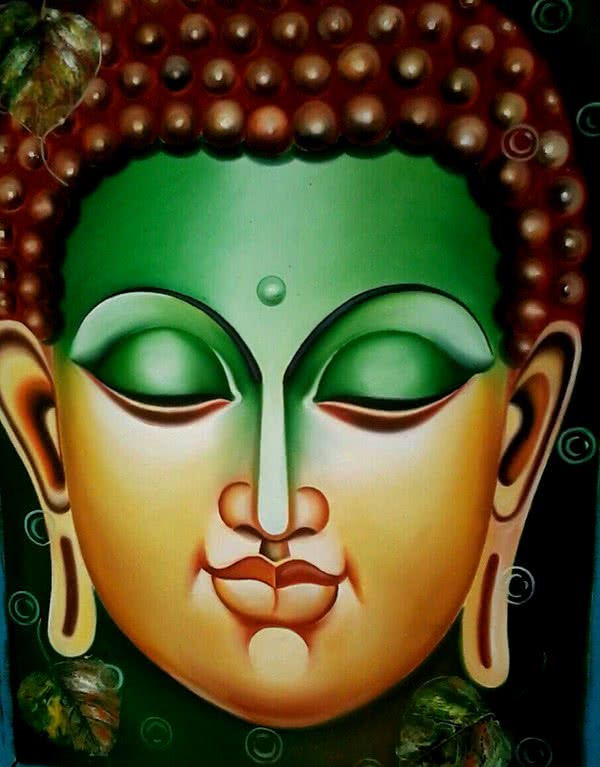 Lord buddha painting by artist ramesh oil paintings lord buddha painting painting by artist ramesh oil canvas sciox Image collections