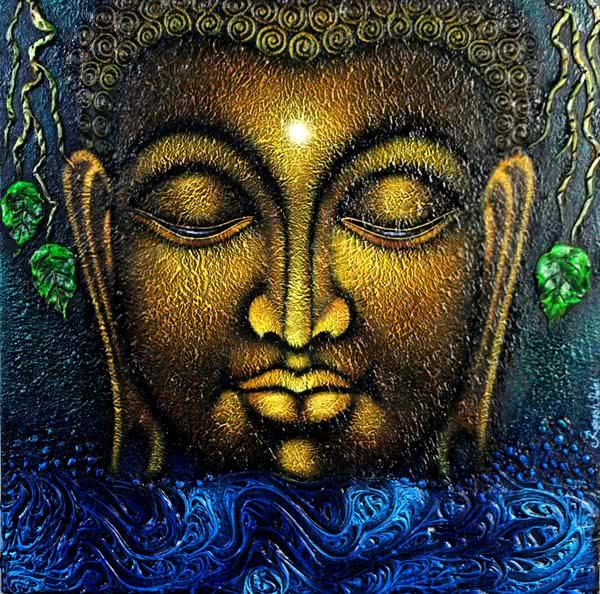 lord buddha painting by artist ramesh religious art acrylic